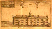 College of New Jersey Nassau Hall drawing
