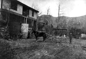 Montreat's Livery Stables, c. 1900