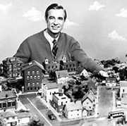 Fred Rogers and Mister Rogers' Neighborhoood set, c. 1968
