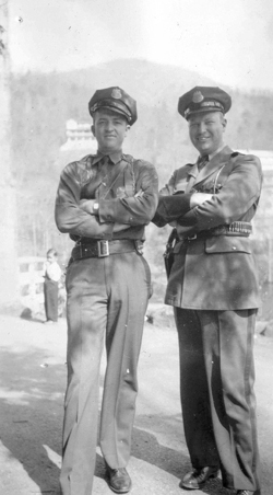 INS guards at Montreat circa 1942.
