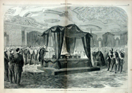 Lincoln's funeral at the White House